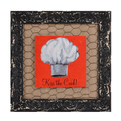 Kiss the Chef Framed Art Print