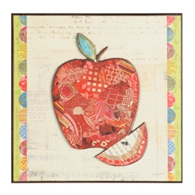 Apple Collage Wall Plaque