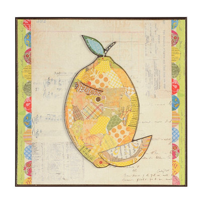 Lemon Collage Wall Plaque