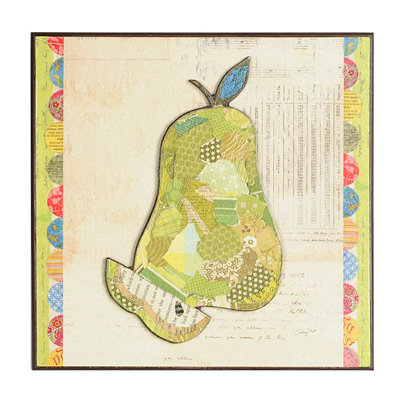 Pear Collage Wall Plaque