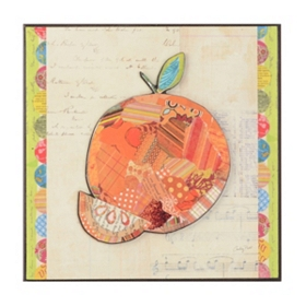 Peach Collage Wall Plaque