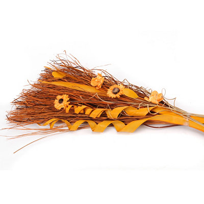Orange Dried Grass Bouquet