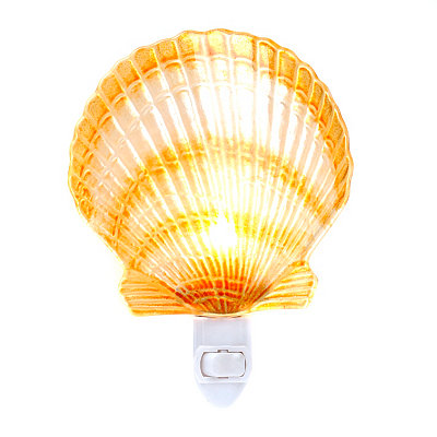White and Amber Shell Night Light
