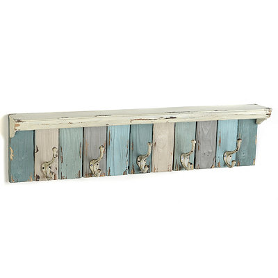 Blue Panels Wall Hook