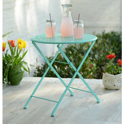 Pierced Turquoise Patio Table