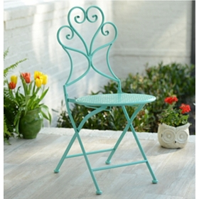 Pierced Turquoise Patio Chair