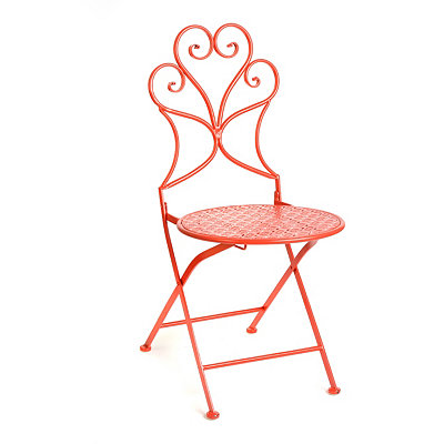 Pierced Red Patio Chair