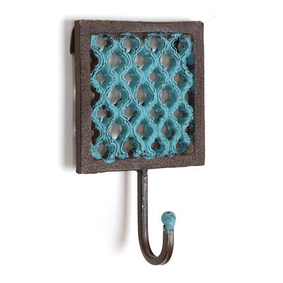 Blue Iron Geometric Wall Hook