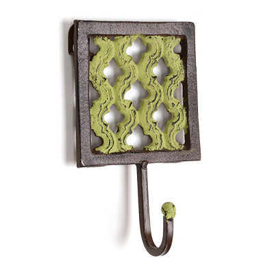 Green Iron Geometric Wall Hook