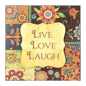 Live, Love, Laugh Patchwork Wall Plaque