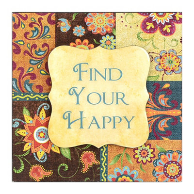 Find Your Happy Patchwork Wall Plaque