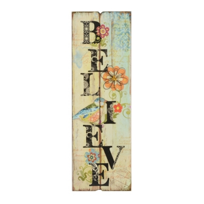Bird Believe Wall Plaque