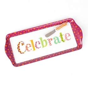 Celebrate Serving Tray with Spreader