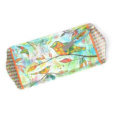 Bright Bird Serving Tray with Spreader