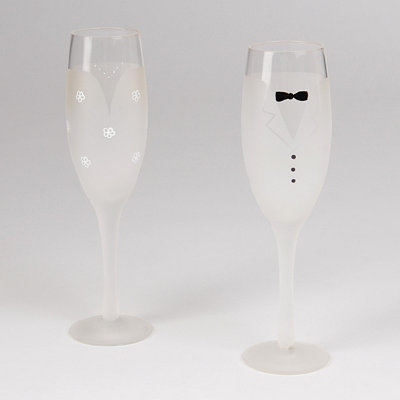 Bride and Groom Champagne Flute, Set of 2