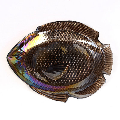 Large Metallic Fish Bowl