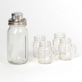 Mason Jar Shaker and Shooters, Set of 5