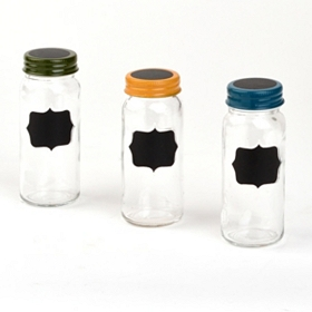 Chalkboard Spice Jars, Set of 3