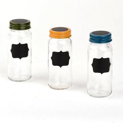 Chalkboard Spice Jars, Set of 3