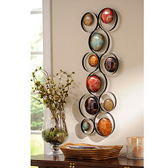 Metallic Bubbles I Metal Wall Plaque