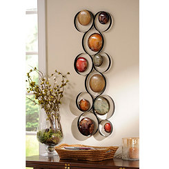 Metallic Bubbles II Metal Wall Plaque