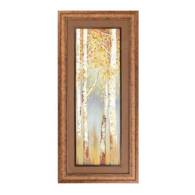 Butterscotch Trees I Framed Art Print