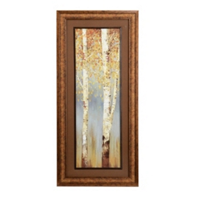 Butterscotch Trees II Framed Art Print