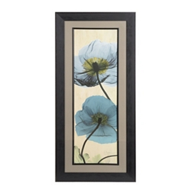Turquoise X-ray Poppies Framed Art Print