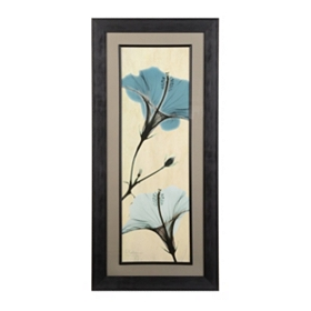 Turquoise X-ray Hibiscus Framed Art Print