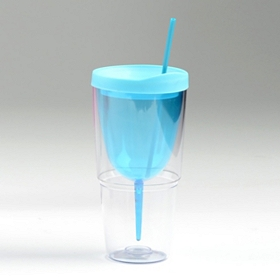Blue Insulated Wine Sipper