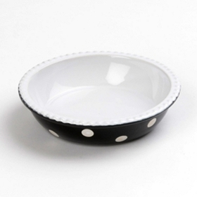 Black & White Dots Mini Pie Plate, 6 in.