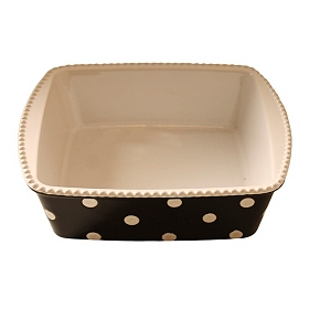 Black & White Dots Square Baking Dish, 2 qts.