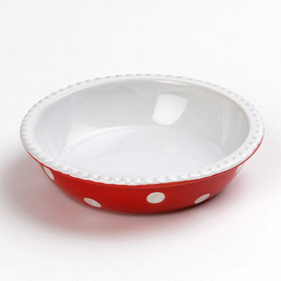 Red & White Dots Mini Pie Plate, 6 in.
