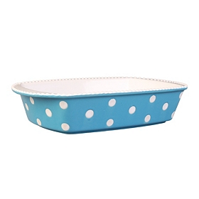 Blue & White Dots Rectangle Baking Dish, 1 qt.