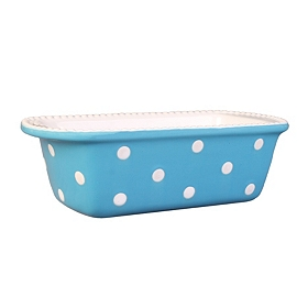 Blue & White Dots Loaf Pan, 10x6 in.