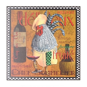 Rooster Chef I Wall Plaque