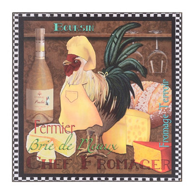 Rooster Chef Wall Plaque