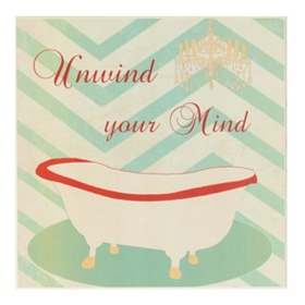 Unwind Your Mind Bathroom Wall Plaque