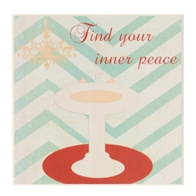 Find Your Inner Peace Bathroom Wall Plaque