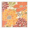 Modern Orange Bouquet Wall Tile