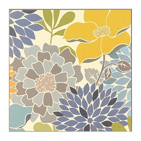 Modern Blue Bouquet Wall Tile