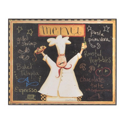 Bistro Chef's Menu Wall Plaque