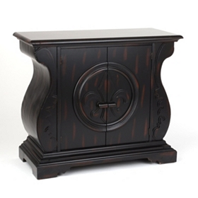 Distressed Black Nantes Cabinet