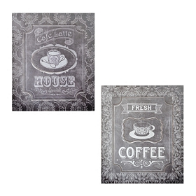 Black Chalk Art Coffee Shop Plaque