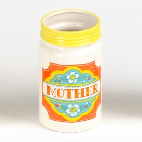Mother Ceramic Mason Jar Vase