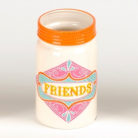 Friends Ceramic Mason Jar Vase
