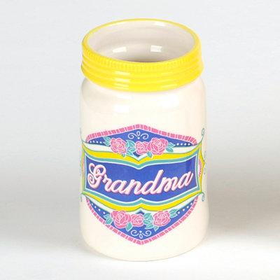 Grandma Ceramic Mason Jar Vase