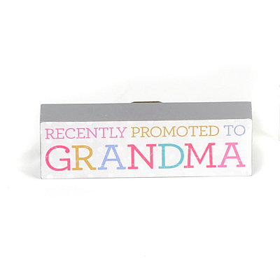 Promoted to Grandma Word Block