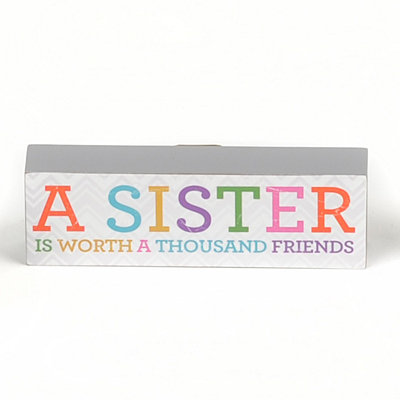 A Sister's Worth Word Block