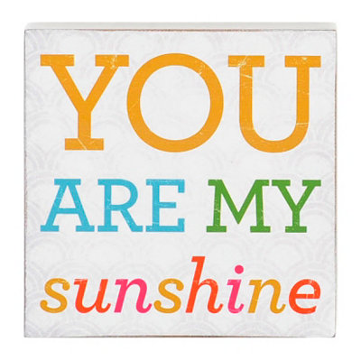You Are My Sunshine Word Block